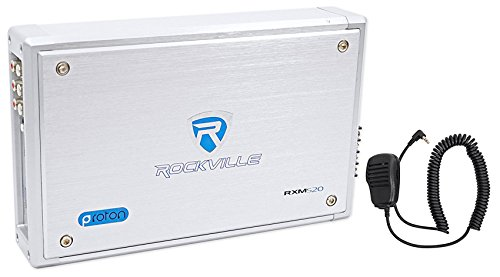 Rockville Rxm-s20 Micro Marine/ATV Amplifier 1600W Peak 4 Channel 4x100/CEA Rated (Ch Power Amp Bridgeable 2)