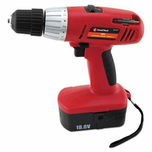 Great Neck Great Neck 18V 2 Speed Cordless Drill, 3/8'' Keyless Chuck (GNS80167) .#GH45843 3468-T34562FD557909 by Nessagro