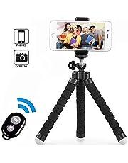 Treppiedi cellulare, cavalletto per iphone flessibile, Treppiedi Fotocamera Bluetooth Universale per Smartphone/Fotocamera per iPhone X/6s/6s Plus, Samsung Note 8/S8, Treppiedi Fotocamera per GoPro