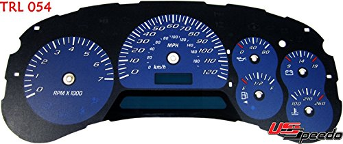 US Speedo TRL054 - Daytona Edition Gauge Faces - Blue / Blue Night - 120 MPH - for: Chevy Trailblazer, Envoy