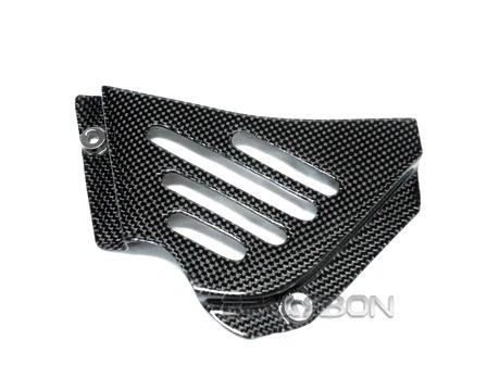 Ducati Carbon Fiber Sprocket Cover Vented - fits all model