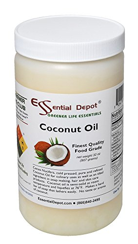 Coconut Oil - 1 Quart - 32 oz. - Food Grade by Essential Depot