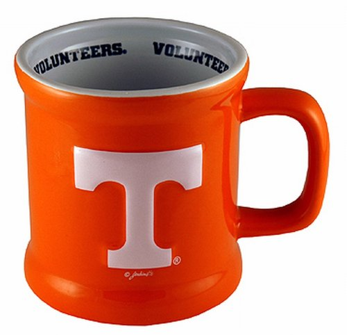 NCAA Tennessee Volunteers Ceramic Relief Logo Mug (Orange-White) by Game Day Outfitters