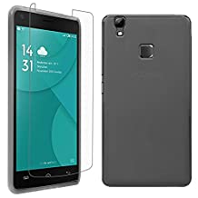 DOOGEE X5 MAX Pro Case + Screen Protector, Gzerma [Perfect Slim Fit] Soft Shock-Absorption Scratch Resistant TPU Durable Protective Cover and High Definition (HD) Clear, Bubble Free Phone Film for DOOGEE X5 MAX Pro, Gray