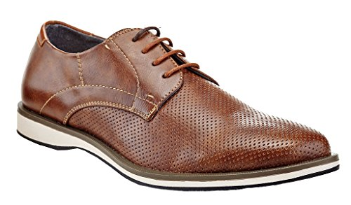 6bb7c313 Franco Vanucci Menn Formell Klassisk Brogue Derby Snøre Opp Perforerte  Casual Kjole Oxfords Sko Brune