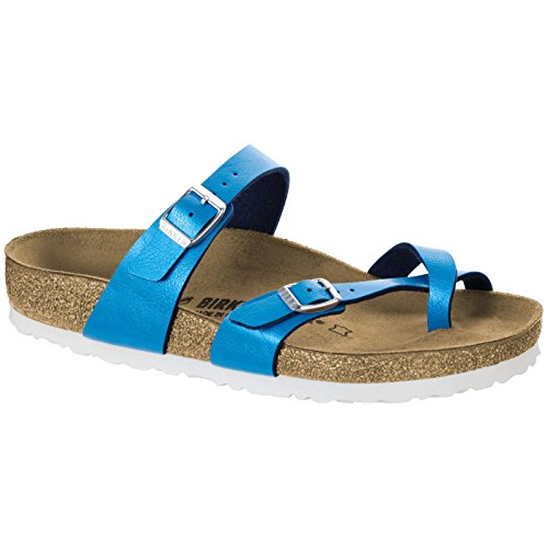 (Birkenstock Women's, Mayari Thong Sandals Ocean Blue 4.1 M)