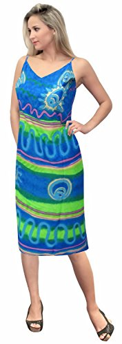La Leela Beach Wrap Sarong Bathing Swimsuit Cover ups Women Pareo Skirt Printed Blue for $<!--$10.99-->