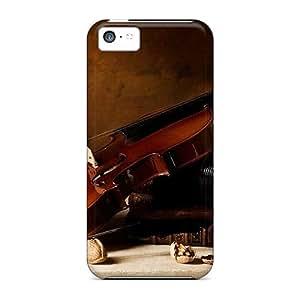 Lmf DIY phone caseTpu Fashionable Design Violin Beautiful Rugged Case Cover For Iphone 5c NewLmf DIY phone case