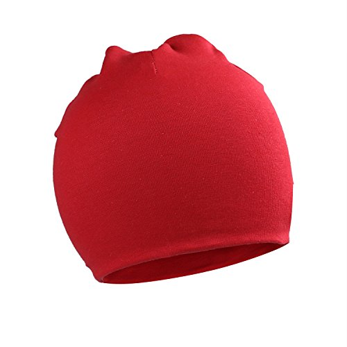 Beanie Red Kids (Kaariss Toddler Infant Baby Cotton Soft Cute Knit Kids Hat Beanies Cap, Red)