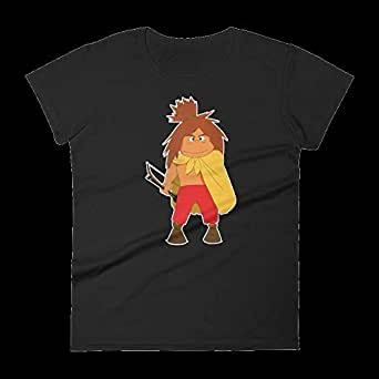 Gharzat Black Round Neck T-Shirt For Women