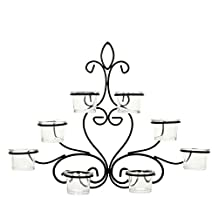 "Hosley's Decorative Wal Sconce, 13.6"" Length, 8 Votive/Tea Light Cup Holder, (P1) NTTOO Ideal Gift. Weddings, Party, Spa, Aromatherapy, Votive Candle Garden."
