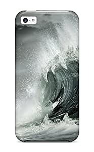 9349099K87604598 Premium Shark Waves Back Cover Snap On Case For Iphone 5c