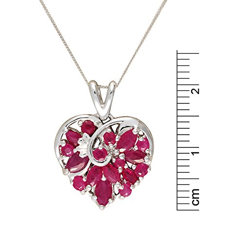 Ivy Gems femme  9carats (375/1000)  Or blanc|#Gold Marquise   Rouge Rubin