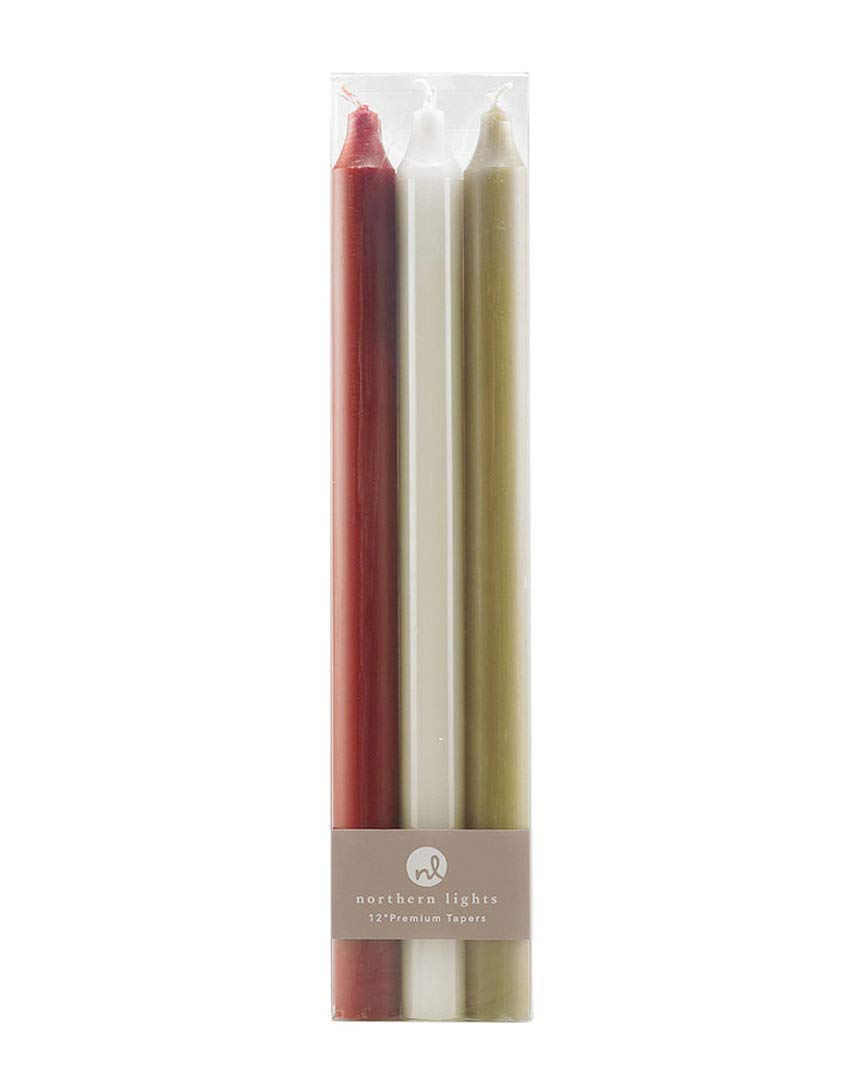 Northern Lights Autumn Harvest Premium 12 Inch Taper Candles