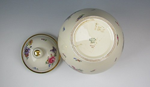 Dresden Sprays - Thomas China DRESDEN FLORAL SPRAY Large Ginger Jar with Lid Excellent