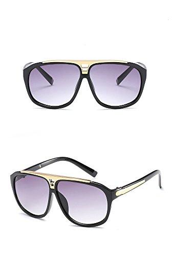 de HD Sol para Sol Sol RFVBNM Mujer sol A Marco Personalidad de de Gafas Moda Gafas de de universales cuadradas de Gafas y qzIwR8z