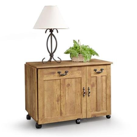 Sauder Sewing and Craft Table (Amber Pine) This Wonderful Piece of Furniture Features a Drop Leaf that Lifts to Give You Extra Work-space by Sauder