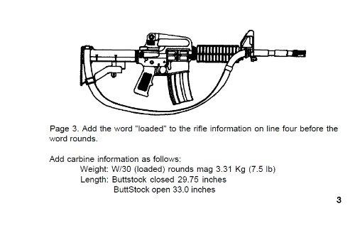 amazon com operator s manual w components list rifle 5 56 mm rh amazon com Special Forces M4 Carbine usmc benelli m4 field manual