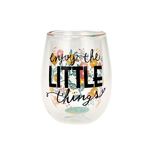 """Top Shelf Double Wall Stemless """"Enjoy the Little Things"""" ..."""