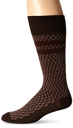 Goodhew Men's Trilogy Socks, Espresso, Large/X-Large
