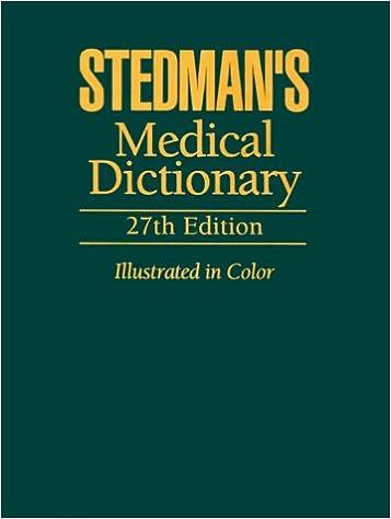 Stedmans Medical Dictionary Stedmans 9780683400076 Amazon