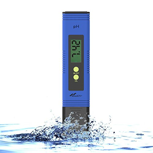 Newdy Digital PH Meter Tester for Water Quality, Food, Aquarium, Pool & Hydroponics,0.01 / High Accuracy +/- 0.05 and 0.00-14.00 Measurement Range, Large LCD Display Battery Included -Blue