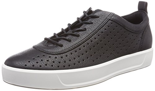 black Sneakers Soft Homme Noir 8 Ecco Basses f1Uvvw