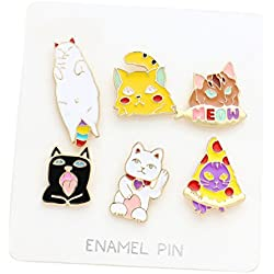 Rosemarie Collections Cute Cats Brooch Pin (Cat Set)