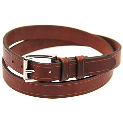Orion Leather 1 1/4 Rich Brown Bridle Leather Belt With Saddle Groove Size 36