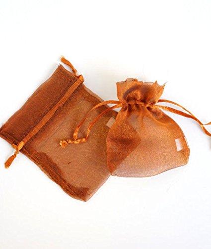 Dorigan home series 50X Bronze Copper Organza Favor Bags Pouches 3