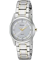 Pulsar Womens PY5003 Solar Dress Analog Display Japanese Quartz Two Tone Watch