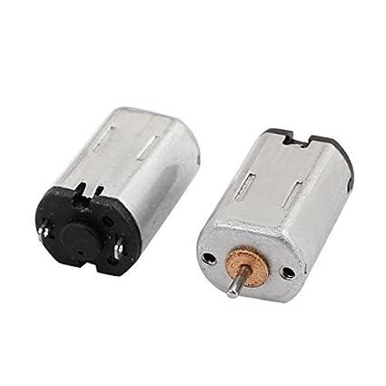 eDealMax 2pcs DC 1.5-6V 21500RPM par grande micro de alta velocidad del motor de
