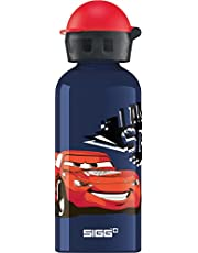 SIGG Cars Speed kinderdrinkfles (0,4 l), vrij van schadelijke stoffen, met lekvrije deksel, mooie waterfles van aluminium