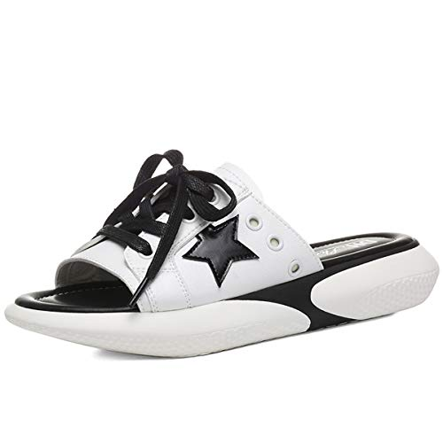 beach slippers ladies Work cool Ladies Women's indoor slippers White wear home Sports AJUNR shoes shoes casual slippers Uvzw4qwB