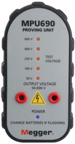 Megger 1001-561TCAL Insulation Tester, 10 Teraohms Resistance, 5kV Multi-Range Test Voltage with a NIST-Traceable Calibration Certificate with Data