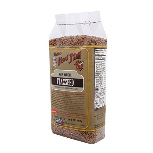 Bobs Red Mill Raw Whole Brown Flaxseed - 24 oz - Case of 4 - Gluten Free - by Bob's Red Mill