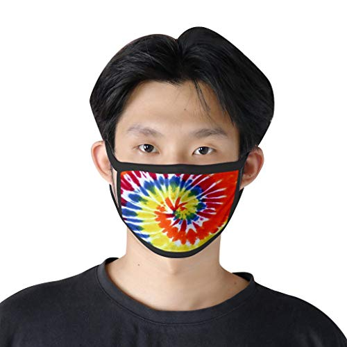 ummboom Men Women Tie Dye Bandana,Washable Fabric Reusable Dust Cotton Face Scarf for Protective Sunset Beach (10pc A)