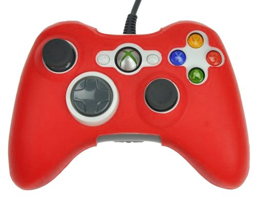 Silicone Skin Case Cover For Xbox 360 Game Controller Red - 6