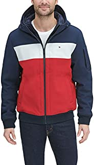 Tommy Hilfiger Men's Soft Shell Fashion Bomber with Contrast Bib and