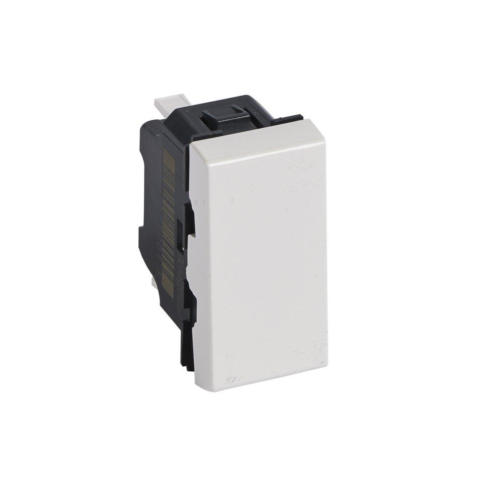 Legrand LEG77030 Poussoir programme mosa/ïque 1 module 6 A Blanc