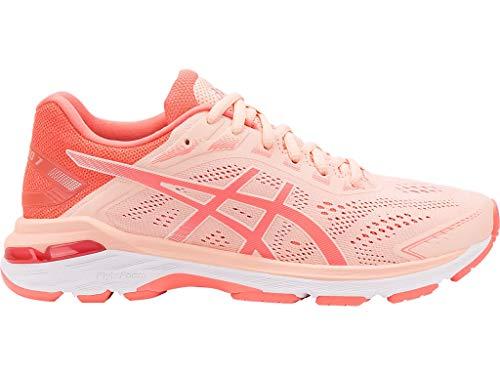 ASICS Women's GT-2000 7 Running Shoes, 6M, BAKEDPINK/Papaya