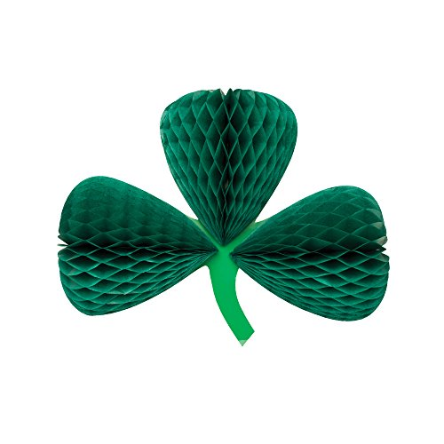 Creative Converting Shamrock Honeycomb Tissue Paper Decor, 12