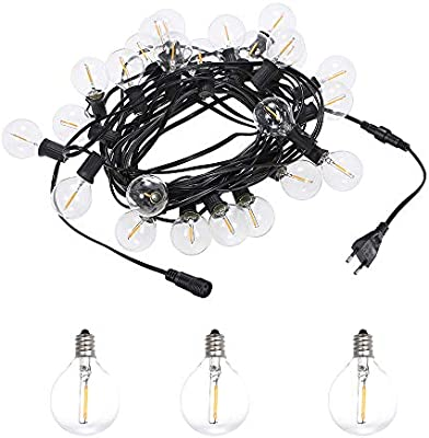Guirnalda Luces LED,Tomshine 39.37FT Cadena de Luz, G40 Guirnaldas ...