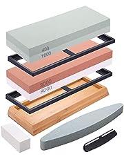 DaiWeier Wetsteen, 2-in-1 slijpsteen, professionele slijpsteenset, korrel 400/1000 en 3000/8000, slijpstenen met slijpsteen metalen lemmet slijpen en polijsten
