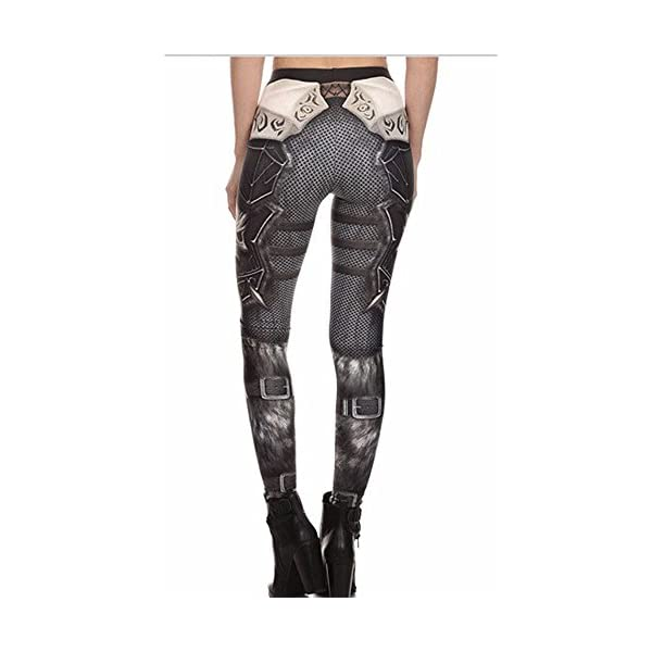 F style Womens 3D Printed Seamless Character Stretch Leggings High Waist Slim Pencil Pants 5
