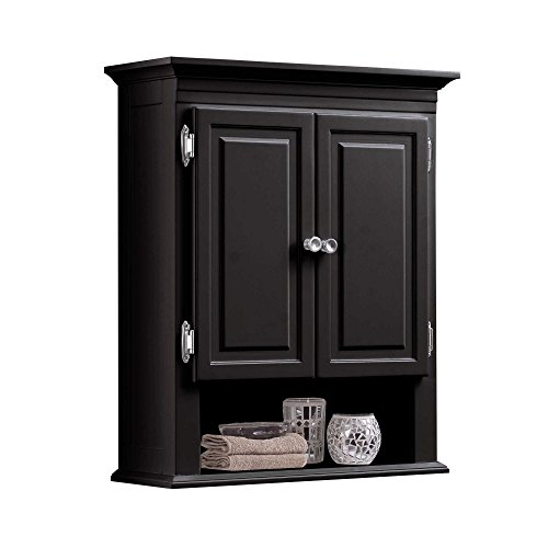 Wakefield 3-Shelf with 2-Doors Bathroom Wall Mount Cabinet in Espresso by Wakefield