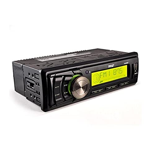 Pyle PLMR86B Stereo Radio Headunit Receiver, Aux (3.5mm) MP3 Input, USB Flash & SD Card Readers, Remote Control, Single DIN (1996 Ford Explorer Radio Harness)