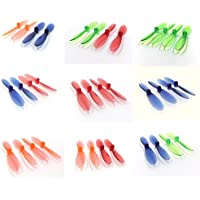 WLtoys V202 Scorpion [QTY: 1] Transparent Clear Blue Propeller Blades Props Rotor Set 55mm Factory Units [QTY: 1] Green [QTY: 1] Red [QTY: 1] Orange [QTY: 1] and [QTY: 1] [QTY: 1] [QTY: 1] [QTY: 1]