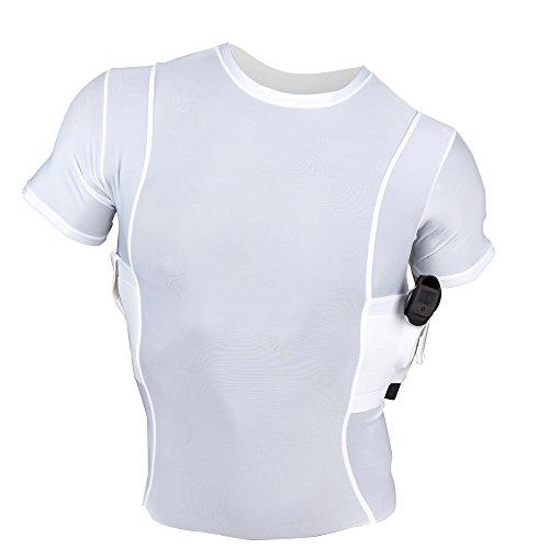 UnderTech UnderCover Men's Concealment Crew Neck Shirt - White - X-Large