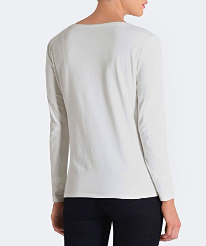 T shirt Jeans nbsp;6y5t46 Lunga Ricamato White Logo Armani Manica Bianco Regular Cotone Donna 6w5qxSw1
